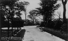 Postcard of Path and Gardens